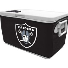 NFL Oakland Raiders 48 Qt Cooler Cover by Coleman. $24.99. 3mm Neoprene. show off your team spirit with the Cooler coozie. Features team logo and colors. Dress your cooler for game day. NFL 48 Qt Cooler Cover. Save 24% Off!