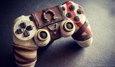 """Custom God of War DualShock 4 Looks Sculpted From Stone """