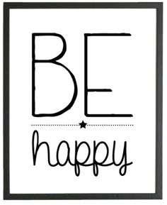 Poster Be Happy | Posters | INSTANT CRUSH