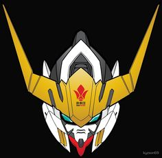 Gundam Barbatos + Tekkadan Iron Flower Logo From Iron Blooded Orphans by kyzson69