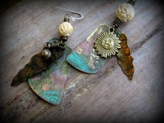 Recycled Metal Earrings