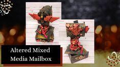 Alters, Medium Art, Mailbox, Dollar Tree, Mixed Media Art, Projects, Log Projects, Mail Drop Box, Blue Prints