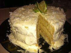 Coconut Lime Cake, to die for! Very dense and easy recipe to follow. (Paula Deen recipe)