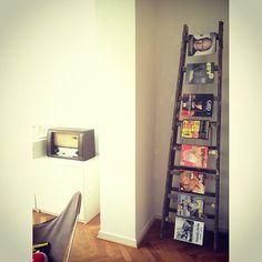 Ladders as magazine rack