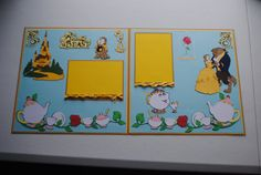 Items similar to Made to Order Disney Beauty and the Beast Potts/Cogsworth/Chip/Lumiere/Disney/Made by OwlAlwaysBeCrafting on Etsy Scrapbook Examples, Scrapbook Sketches, Scrapbook Page Layouts, Scrapbooking Ideas, School Scrapbook, Disney Scrapbook Pages, Disney Photo Book, Disney Princess Tattoo, Punk Princess