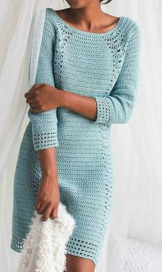 Ravelry: Tranquil House Dress pattern by Natasha Robarge - Salvabrani Likes, 25 Comments - Hob This Pin was discove Diy Crafts Dress, Diy Crafts Crochet, Diy Dress, Prom Dress, Crochet Cardigan, Knit Crochet, Lace Knitting, Crochet Pattern, Crochet Beach Dress