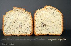 Pan con harina de avena tostada en panificadora