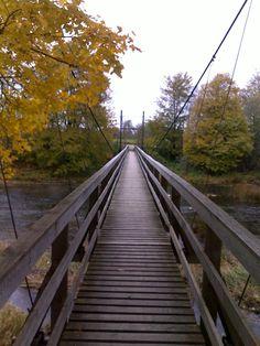 Jõesuu suspension bridge, Estonia