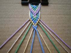 Friendship Bracelet Tutorial 6: Leaf Pattern | Seri Marea