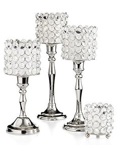 "12"" Sparkle Candlestick I want to try to DIY this. candlestick, plain glass votive holder and glue bling to it? May work."