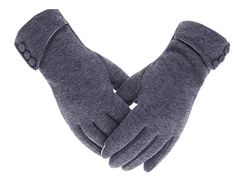 Women's Touch Screen Gloves Lined Thick Wind Proof Warm Winter Glove - Gray - - Women's Accessories, Gloves & Mittens, Cold Weather Gloves # # Best Winter Gloves, Warmest Winter Gloves, Lila Outfits, Fashion Models, Style Fashion, Velvet Glove, Cashmere Gloves, Fashion Pattern, Cold Weather Gloves