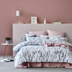Loving the white marble/blush pink aesthetic, a perfect match for LoveLuxy wall art