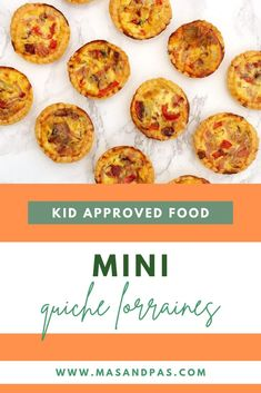 These delicious mini quiche lorraines are easy to make using a flaky, premade shortcrust pastry and filled with eggs, milk, cheese, ham, red pepper, and onion. Bake up the delicious little quiches for an easy dinner, snack, or even lunchbox meal that your kids will devour! #quicherecipe #quichelorraine #easydinnerrecipes #kidsrecipes #easyquicherecipe Lunch Box Recipes, Easy Dinner Recipes, Dinner Ideas, Breakfast Recipes, Snack Recipes, Healthy Recipes, Snacks, Toddler Recipes, Toddler Meals