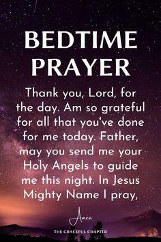 Good Night Prayer Quotes, Prayer For Love, Prayer For Family, Daily Prayer, Good Prayers, Good Night Blessings, Prayers For Healing, Bible Prayers, Prayer Before Sleep