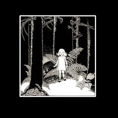 Young Girl Alone in the Woods Dorothy Lathrop B/W Etching 1934 Book Art Print #Realism