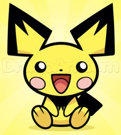 How to Draw Pichu, Step by Step, Pokemon Characters, Anime, Draw Japanese Anime, Draw Manga, FREE Online Drawing Tutorial, Added by Dawn, December 27, 2013, 5:26:38 pm