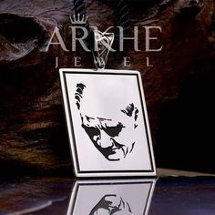 Atatürk Silüeti Gümüş Kolye - Arkhe Jewel