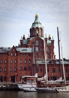 Helsinki Orthodox Church by Visit Finland Places Around The World, Around The Worlds, Holidays In Finland, Visit Helsinki, Houses Of The Holy, Scandinavian Countries, Religious Architecture, Costa, Place Of Worship