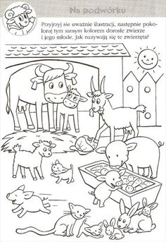 Farm Animals, Animals And Pets, Coloring Books, Coloring Pages, Teaching English, Kids And Parenting, Diy And Crafts, Kindergarten, Black And White