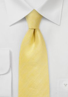 Herringbone Tie in Sunbeam Yellow