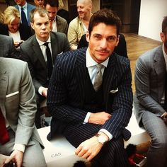 David Gandy at the London Collections show