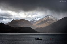 Stormy skies over Loch Duich and Glen Shiel.
