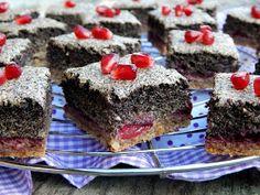 Mézes finomságok...: Paleo mákhabos pite meggyel és csokoládés szederlekvárral... Healthy Cake, Sweets, Poppy, Food, Healthy Meatloaf, Gummi Candy, Candy, Essen, Goodies