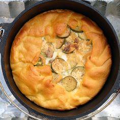 Cheesy Summer Squash Galette (in a Dutch oven)