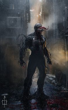 Marvel Venom under the rain Venom Spiderman, Marvel Venom, Spiderman Art, Marvel Vs, Marvel Dc Comics, Marvel Heroes, Hulk Superhero, Films Marvel, Marvel Villains