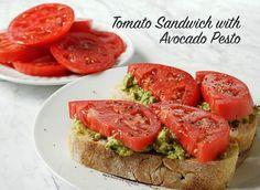 Sandwich de tomate de lunes sin carne