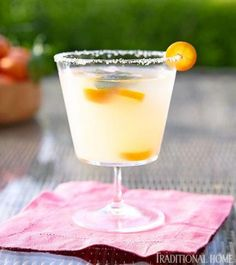 Ginger-lime margaritas offer a delightfully refreshing twist on the traditional -- a perfect summertime cocktail! - Traditional Home ® / Photo: Luca Trovato