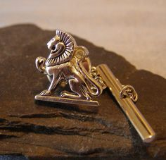 "Tie Pin LION by SWANK ""AKER"" the Egyptian Earth God ~ God of the Horizon ~ Guardian of the Dawn ~ Keeper of the Underworld ~ Protector of the Sun God Ra! ...found in StitchInTimeJewelry Shop on #Etsy by Scotty MC Jewelry"