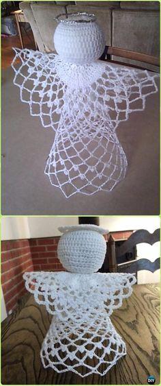 Crochet Tree-Topper Angel Free Pattern - Crochet Angel Free Patterns