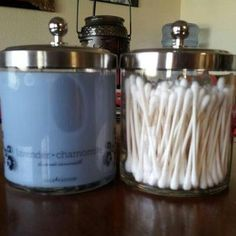 Love how you can re-use the candle jars from Gold Canyon! My jar went from being a Lavender Chamomile Aromatherapy candle to my Q-tip jar!