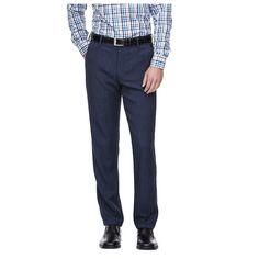 Haggar H26 - Men's Big & Tall Straight Fit Performance Pants Blue Heather