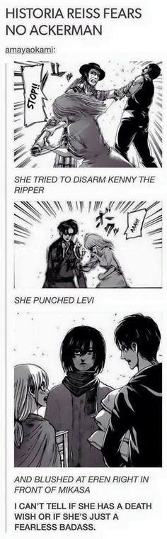 Haha! Historia Reiss/ Christa Lenz- Attack on Titan/ Shingeki no Kyojin