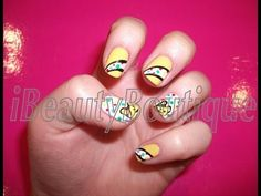 Nail Art - Children In Need - Pudsey Bear   #Nailart  Like,Repin Share :)