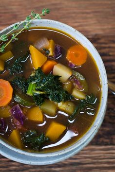 Fall Harvest Soup is a simple soup full of all kinds of wonderful veggies! (plant-based, vegetarian and vegan friendly)