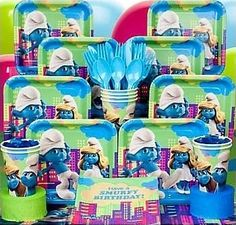 Birthday in a Box  The Smurfs Party  From $11.39