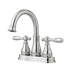 Pfister Sonterra Polished Chrome 2-Handle 4-in Centerset WaterSense Bathroom Faucet (Drain Included)