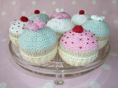 Cupcake knitting pattern by louiseshandknits on Etsy, £2.50