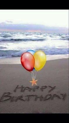 Beach birthday balloons