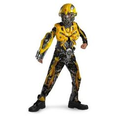 Transformers Age of Extinction Kids Deluxe Bumblebee Costume Transformer Costume, Transformers Bumblebee, Transformers Movie, Childrens Halloween Costumes, Spirit Halloween, Halloween Kids, Halloween Makeup, Halloween Party, Mardi Gras