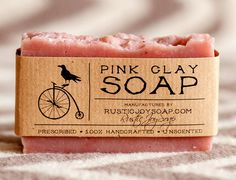 Pink Clay Soap - All Natural Soap,Handmade Soap,Acne Soap, Pink Clay Soap,anti-cellulite soap,Spa Soap
