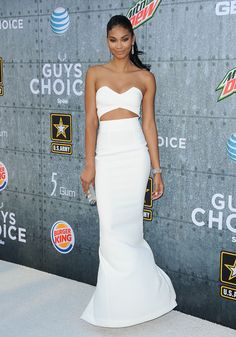 Redefining the Little White Dress - Chanel Iman-Wmag