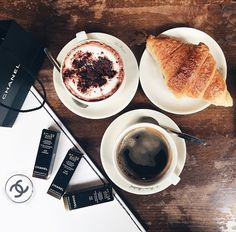 My 3 C's . Coffee, Croissants and Chanel