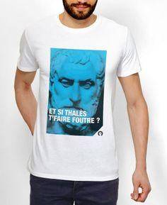 Tshirt Homme Thalès Blanc by Fists et Lettres