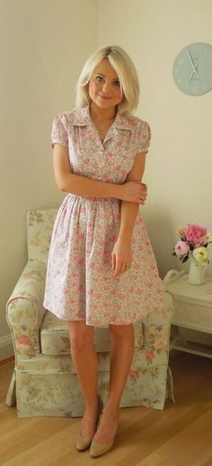 My 1940s inspired Liberty print shirt dress Learn How to Sew Dresses for Beginners | Easy Dresses to Sew | Ways to Make a Dress