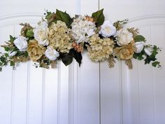 Floral Design Hydrangea Roses Beige Gold Home & by TsFloral