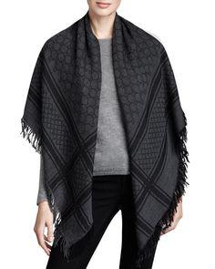 Gucci shawl, 1.25m x 1.25m, Silk & Wool, $470